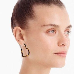 NWT Anthropologie Heart Hoop Earrings